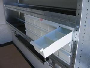 2 compartiments dans chaque casier