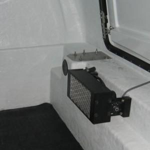 chauffage 12 volts instllé sur le côté